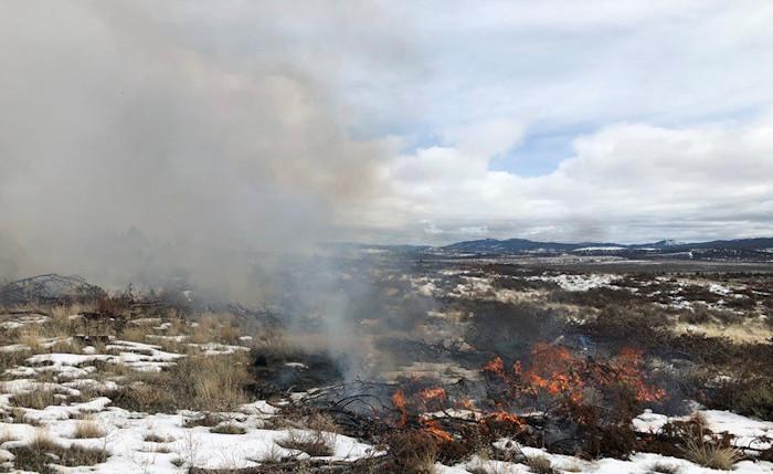 Juniper 'jackpot' burning