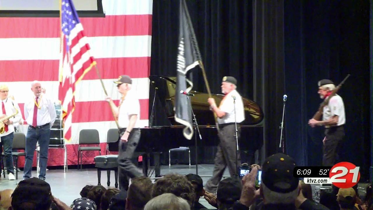 Bend SHS veterans assembly