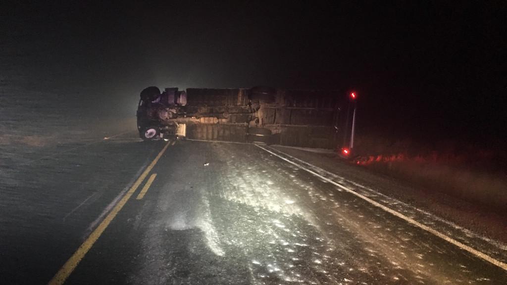 George Millican Road truck crash