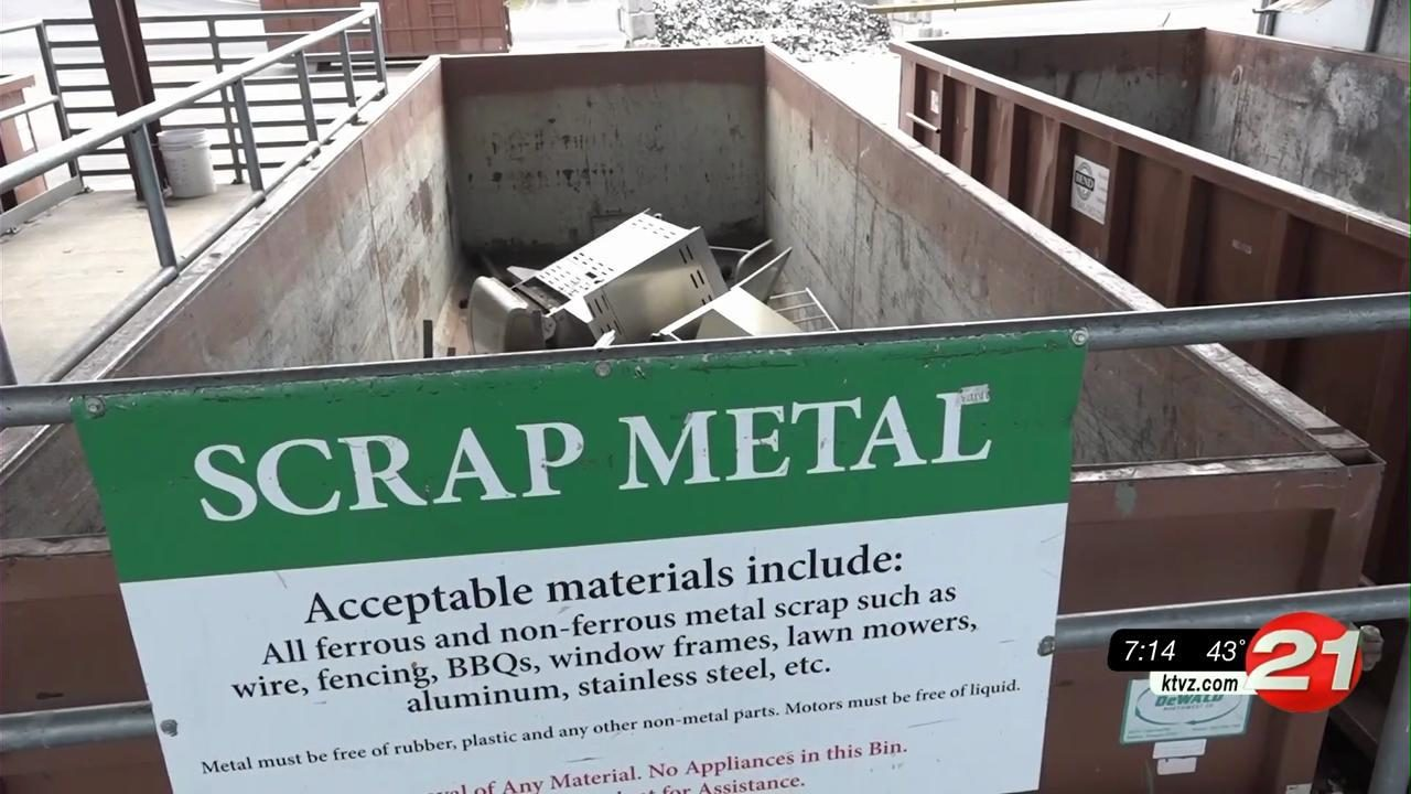 Knott Landfill recycling scrap metal