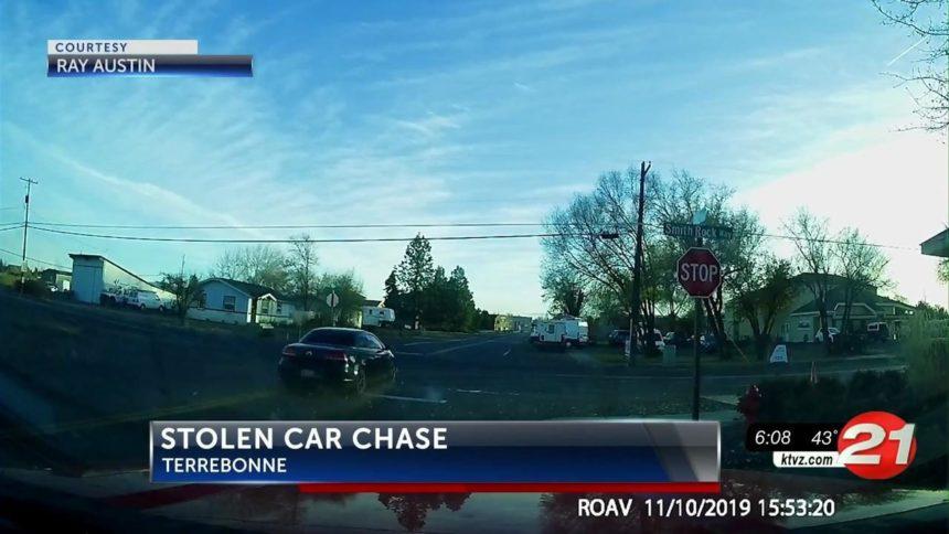 Stolen car chase Terrebonne
