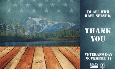 USFS Veterans Day fee waiver